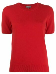 N.Peal cashmere short-sleeved top - Red
