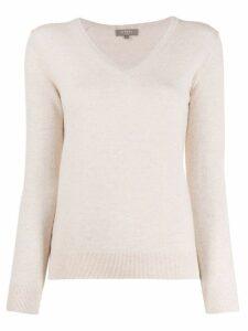 N.Peal cashmere V-neck jumper - Neutrals
