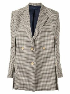 Eudon Choi check print buttoned blazer - Brown