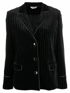 Liu Jo striped fitted blazer - Black