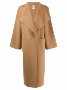 Toteme oversized collar coat - Brown