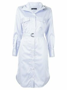 Eudon Choi Alberta striped shirt dress - Blue