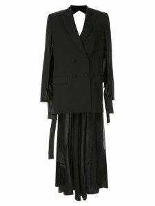 Seen Users open-back blazer dress - Black