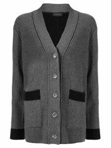 Eudon Choi Natalia contrast-trimmed cardigan - Grey