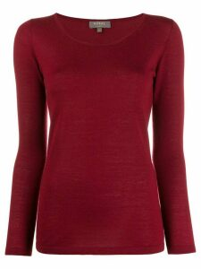 N.Peal cashmere round neck sweater - Red