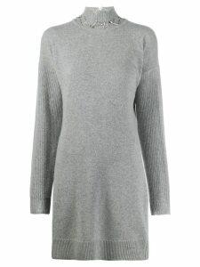 Pinko knitted jumper dress - Grey