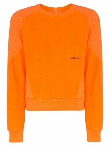 Ambush logo-embroidered fleece sweatshirt - Orange