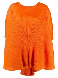 Pleats Please Issey Miyake boxy shift dress - Orange