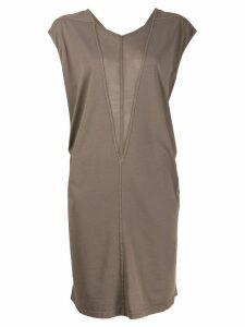 Rick Owens DRKSHDW two-tone jersey dress - Grey