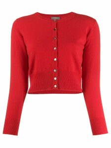 N.Peal cashmere cropped cardigan - Red