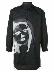 Yohji Yamamoto face print shirt - Black