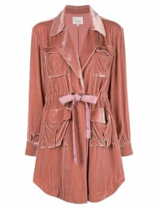 Cinq A Sept velvet trench coat - Pink
