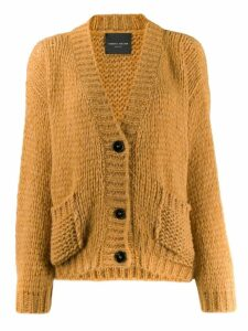 Roberto Collina open knit cardigan - Yellow