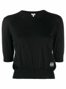 Loewe anagram cropped jumper - Black