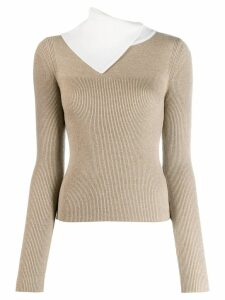 See By Chloé slashed turtleneck sweater - White