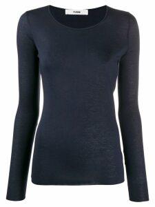 Roberto Collina long sleeved T-shirt - Blue