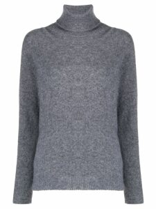 Roberto Collina roll neck knitted jumper - Grey