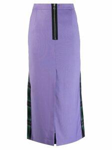 Natasha Zinko plaid midi skirt - Purple