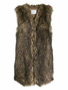 Dondup faux fur gilet - Neutrals