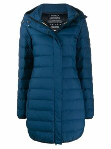Ecoalf hooded down coat - Blue