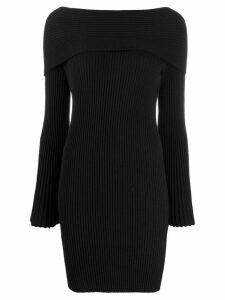 Twin-Set Jacquard inlay sheath dress - Black