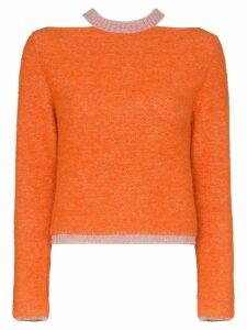 Eckhaus Latta knitted slim jumper - Orange