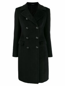 Tagliatore wool military coat - Black