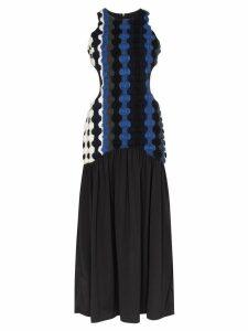 Markoo Fancy wool cut-out long dress - Black