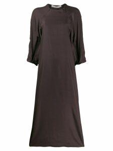 Cherevichkiotvichki silk zipped dress - Grey