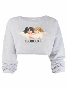 Fiorucci Vintage Angels cropped sweatshirt - Grey