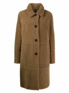 Yves Salomon shearling button up coat - Neutrals