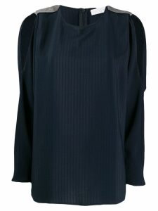 Fabiana Filippi cut-out detail blouse - Blue