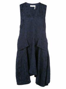 Chloé floral jacquard tunic dress - Blue