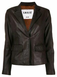 S.W.O.R.D 6.6.44 leather blazer style jacket - Brown