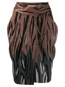 Circus Hotel glittery animal print skirt - Brown