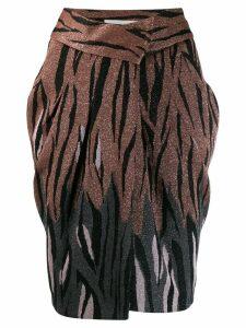 Circus Hotel glittery animal print skirt - Brown