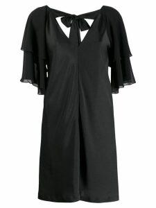 Liu Jo ruffled-sleeve mini dress - Black