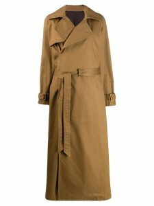 A.F.Vandevorst Matrix oversized trench coat - Brown