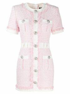 Balmain buttoned tweed dress - PINK