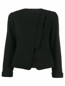 Emporio Armani asymmetric blazer - Black