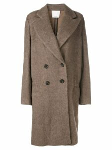 Tibi double breasted coat - Brown