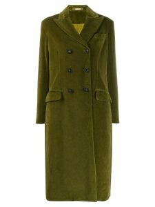 Massimo Alba textured double-breasted coat - Green