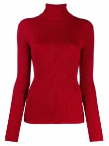 P.A.R.O.S.H. ribbed roll neck jumper - Red
