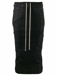 Rick Owens DRKSHDW fitted drawstring skirt - Black