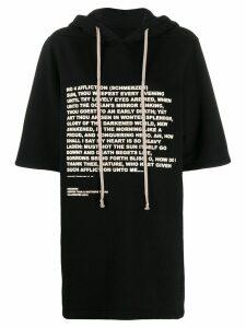 Rick Owens DRKSHDW quote print hoodie - Black