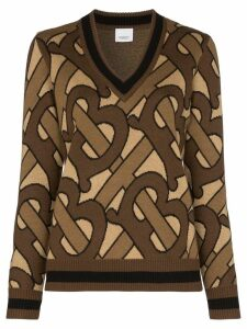 Burberry Namata Monogram print knit jumper - Brown