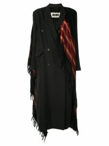 Uma Wang double-breasted scarf coat - Black