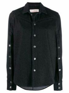A.F.Vandevorst button-embellished shirt - Blue