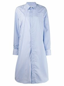 A.F.Vandevorst Dexter striped shirt dress - Blue