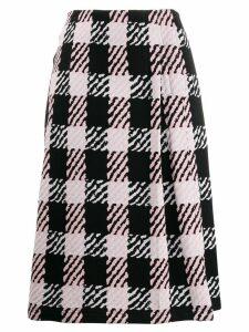 Marni checked midi skirt - PINK